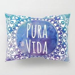 Pura Vida Watercolor Mandala Pillow Sham