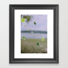 Rushing Framed Art Print