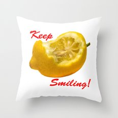 Lemon composition Keep Smiling! Throw Pillow