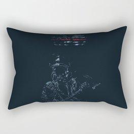 Fireman in Action Rectangular Pillow