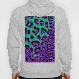 Aqua and Violet Leopard Spots Hoody