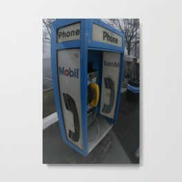 Tulare Phonebooth Metal Print