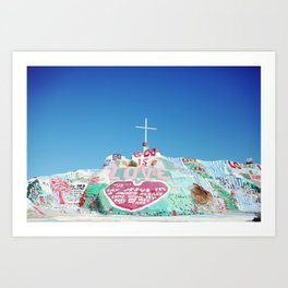 Salvation Mountain in the Californian Desert Art Print