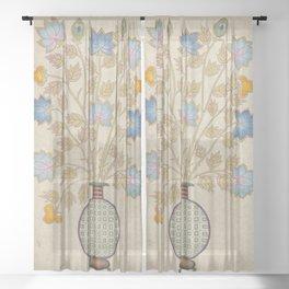 A vase of flowers E : Minhwa-Korean traditional/folk art Sheer Curtain