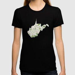 West Virginia in Flowers T-shirt