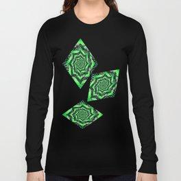 Folding Green Paper into Zigzags Long Sleeve T-shirt