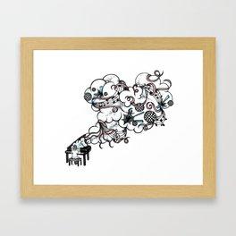 Piano Music Framed Art Print