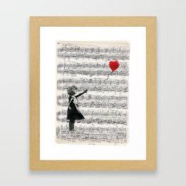 The Banksy Ballon Girl Framed Art Print