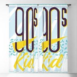 1990s Memphis Lettering Blackout Curtain
