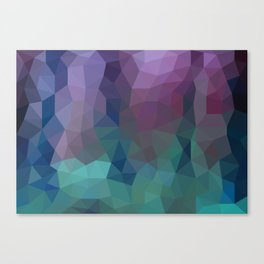 Shades of Amethyst Low Poly Canvas Print