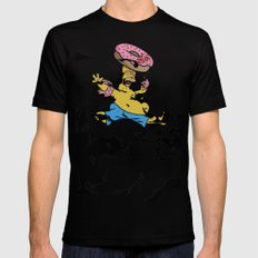 Simpsons 25th Mens Fitted Tee MEDIUM Black