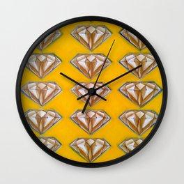 Diamonds (yellow) Wall Clock