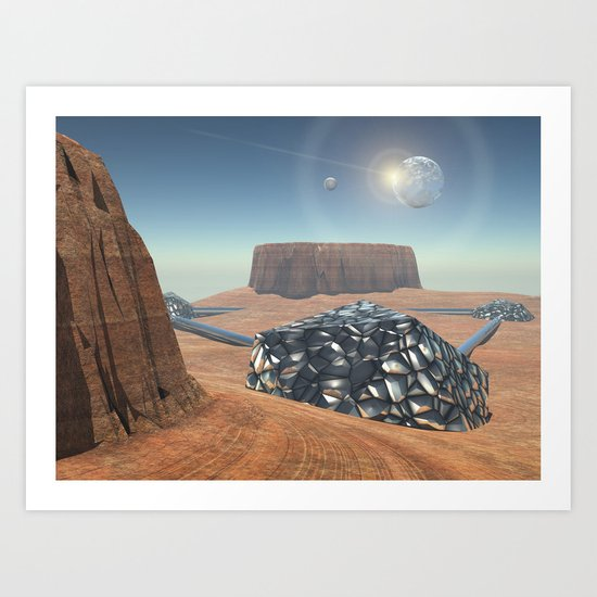 Mars Babylon Colony, view of Armageddon  Art Print