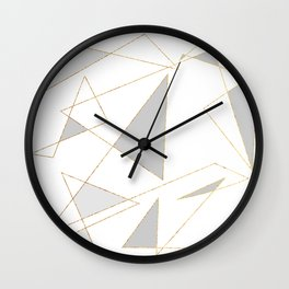 Duo of Triangles Wall Clock