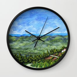 Vineyards Near Nice, France by Mike Kraus - art french france p Wall Clock