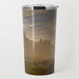 Looking Down Yosemite Valley by Albert Bierstadt Travel Mug