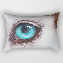 Husky's eye Rectangular Pillow