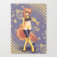 kiki Canvas Prints featuring Kiki by HaruShadows
