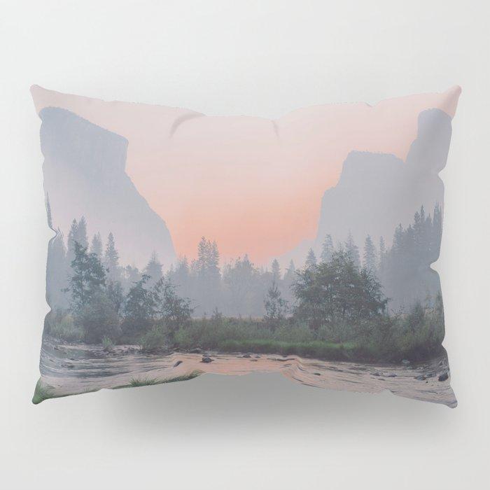 Yosemite Valley Sunrise Pretty Pink Pillow Sham