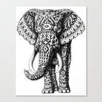 navajo Canvas Prints featuring Navajo Elephant by BIOWORKZ