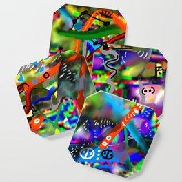 Brahman liberation abstract art Coaster