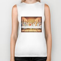 the last unicorn Biker Tanks featuring Last Supper Unicorn by That's So Unicorny
