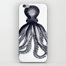Octopus | Black and White iPhone & iPod Skin