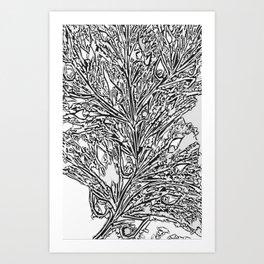 Mirall Trencat, Arbre de Vida Art Print