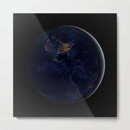 Black Marble - Americas Metal Print