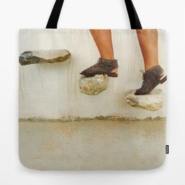Feet in Greece Tote Bag