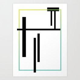 minimal Geometric #1 Art Print