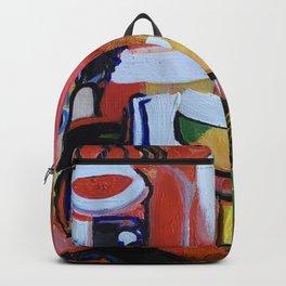 Broken Anatomy, an acrylic abstract design Backpack