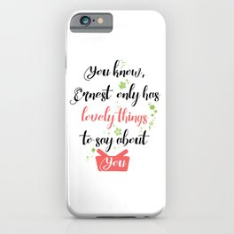 Jess quote - Gilmore Girls iPhone Case