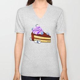 Choc Penguin Cake Unisex V-Neck