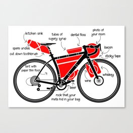 Bikepacking Canvas Print