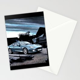 ASTON MARTIN AUTOMOBILE AT ENGLISH HARBOUR Stationery Cards