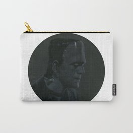 Frankenstein's monster on vinyl record print Carry-All Pouch
