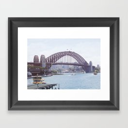 The harbour bridge Framed Art Print
