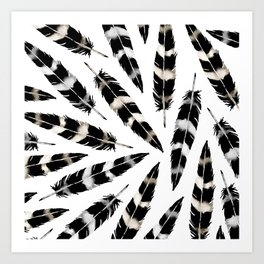 Viking Feather Art Print