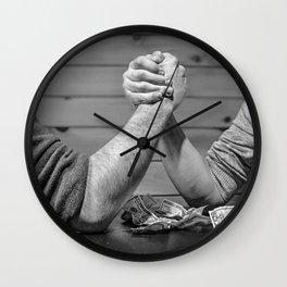 mens battle Wall Clock