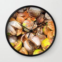 Coconut Husk Photography. Coir. Coconut Fibre. Coir Fibres Wall Clock