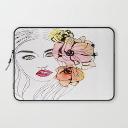 The Resting B*tch Face, floral design Laptop Sleeve
