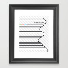 Architecture 101 Framed Art Print