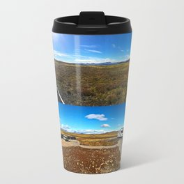 Rest Stop on Iceland's Golden Circle Panorama (Collage) Travel Mug