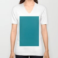 metallic V-neck T-shirts featuring Metallic Seaweed by List of colors