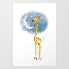Hello Moon Art Print