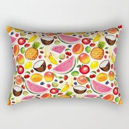 Fruit Pattern - White Rectangular Pillow