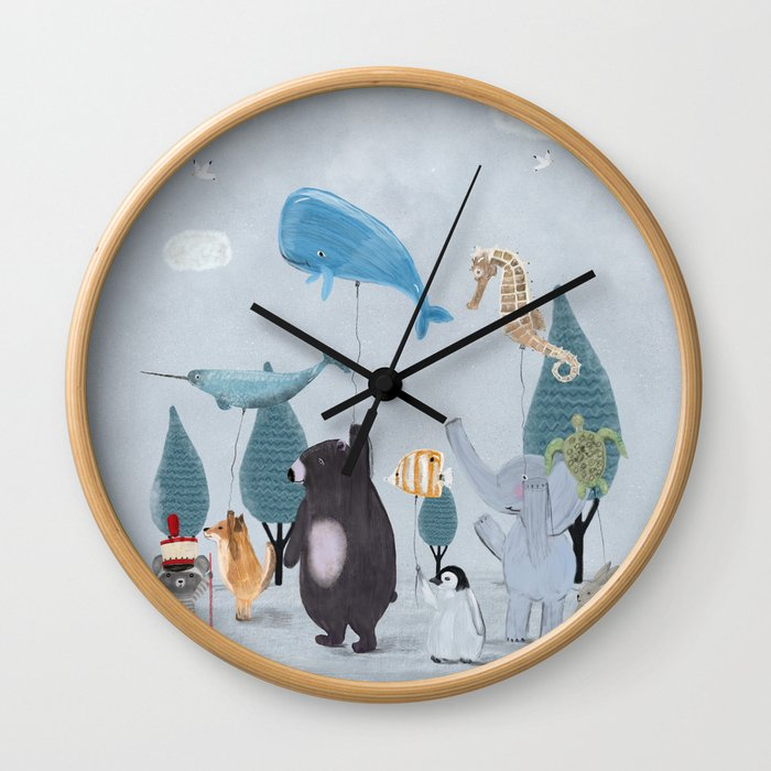 nature parade Wall Clock