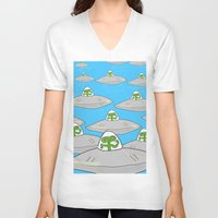 aliens V-neck T-shirts featuring Aliens by David Abse