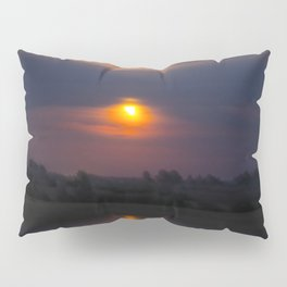 Blood Moon, Night in Countryside Pillow Sham